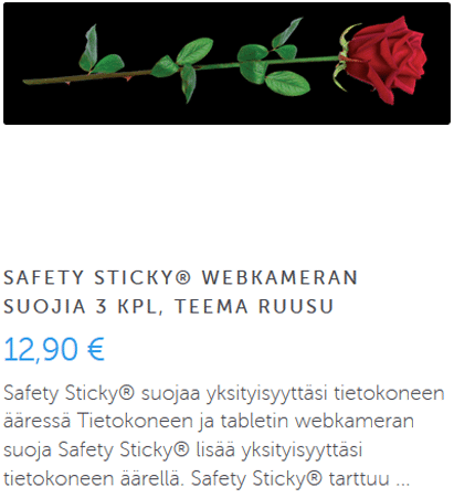 Safety sticky ruusu